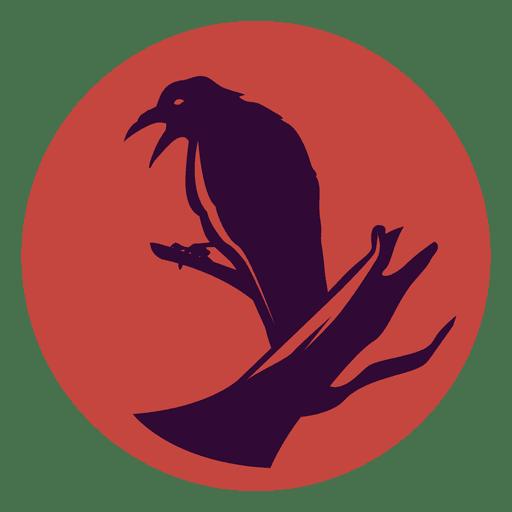 Icono de c?rculo de cuervo
