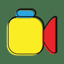 Ícone de registro colorido