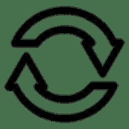 Recargar botón verde - Descargar PNG/SVG transparente