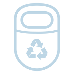 Ícone de reciclar linha de lixo