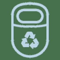 Recicle el icono de la línea de basura
