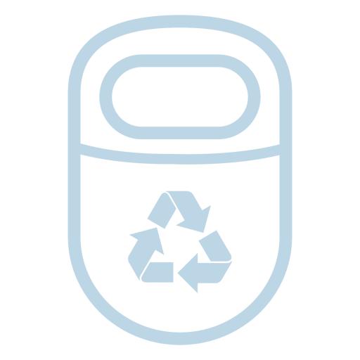 Recycle trash line icon