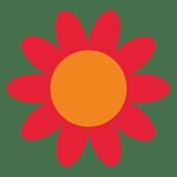 Girassol abstrato vermelho