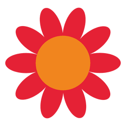Rote abstrakte Sonnenblume
