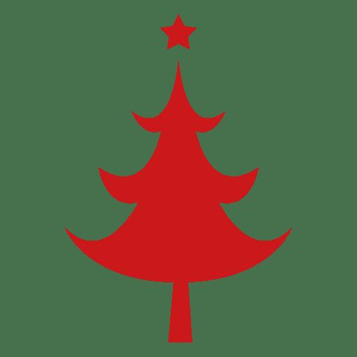 Árbol de navidad rojo