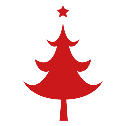 Red Christmas Tree  Transparent PNG
