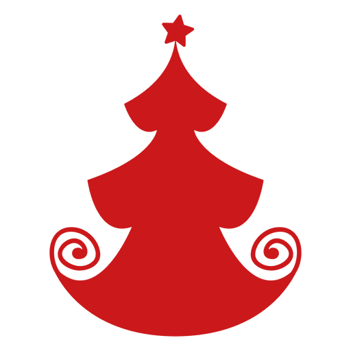 Red Christmas Tree Icon Png