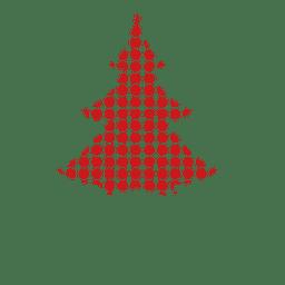 Pinheiro pontilhado vermelho