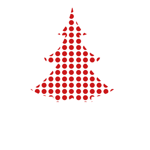 Red dotted pine tree Transparent PNG
