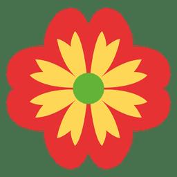 Icono rojo floral