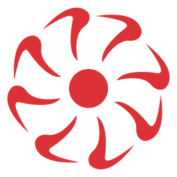 Red flower icon 1