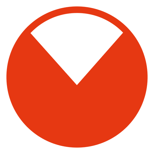 Red pie chart - Transparent PNG & SVG vector