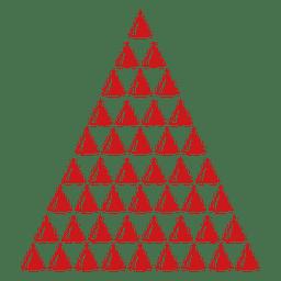 Icono de pinos rojos