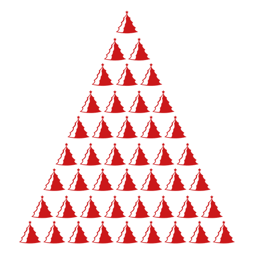 Red pine trees icon