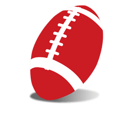 Pelota de rugby roja