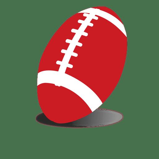 Bola de rugby vermelho Transparent PNG
