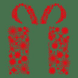 Caixa de presente vermelha starflakes