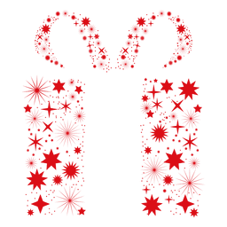 Rote Starflakes Geschenkbox