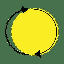 Ícone de atualização e reciclagem