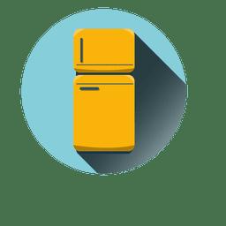 Refrigerator round icon