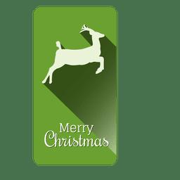 Reindeer christmas label