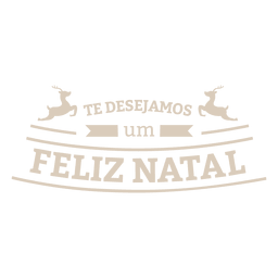 etiqueta português renas natal