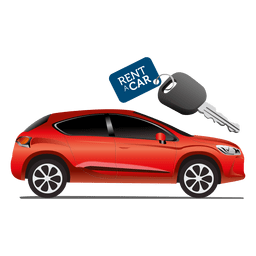Rent car key tag