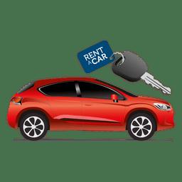 Tag chave do carro do aluguel