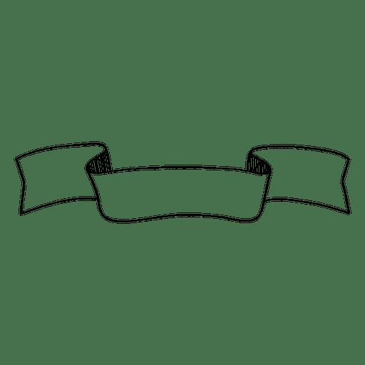 Ribbon banner doodle Transparent PNG