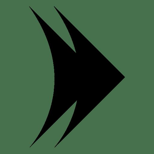 Doble flecha derecha Transparent PNG