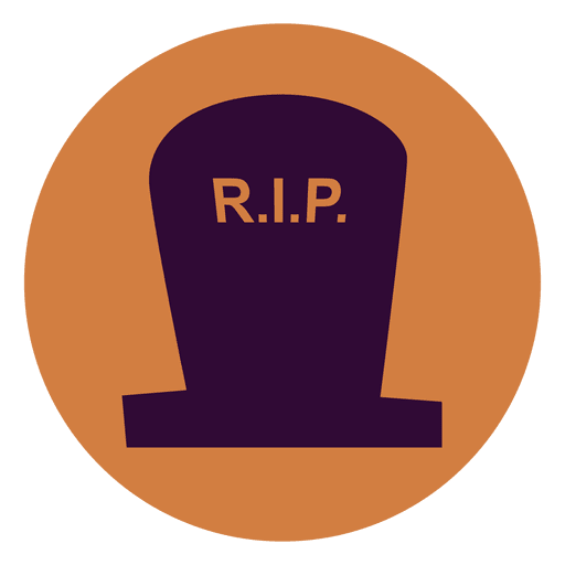 Rip tombstone circle icon Transparent PNG
