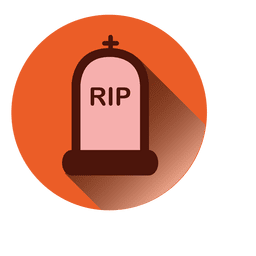 Rip lápida redonda icono