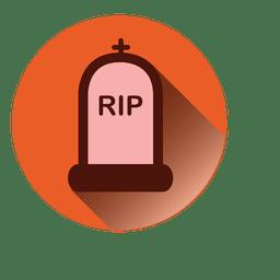 Rip tombstone ícone redondo