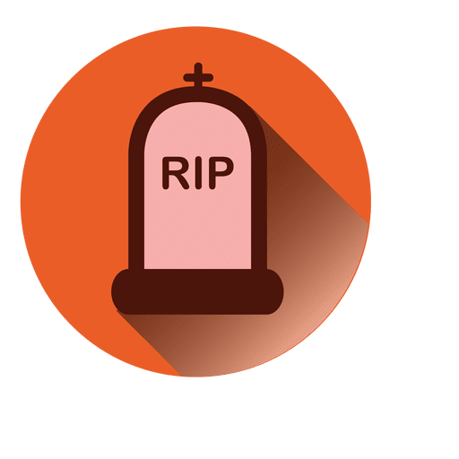 Rip tombstone round icon Transparent PNG