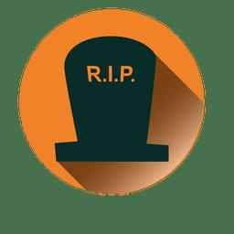Rasgar lápida redonda icono 1