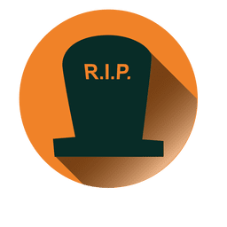 Rip tombstone round icon 1