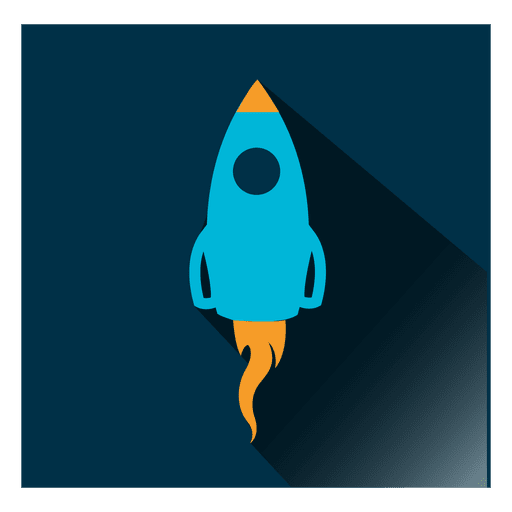Ícone de foguete quadrado
