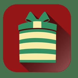 Round giftbox square icon