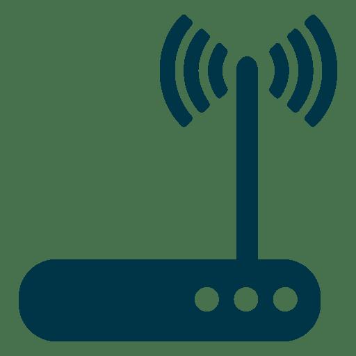 Ícone plana roteador Transparent PNG