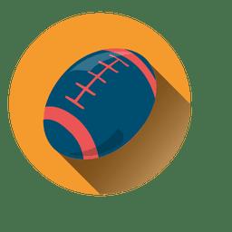 Ícone de círculo de bola de rugby