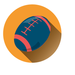 Rugby ball circle icon