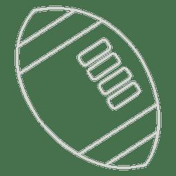 Ícone do curso da bola de rugby