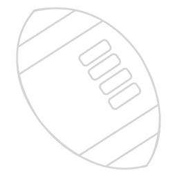 Rugby ball stroke icon