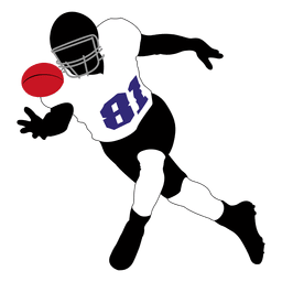 Rugby player catching