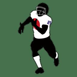 Jogador de rúgbi em execução
