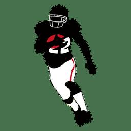 Jugador de rugby corriendo 2