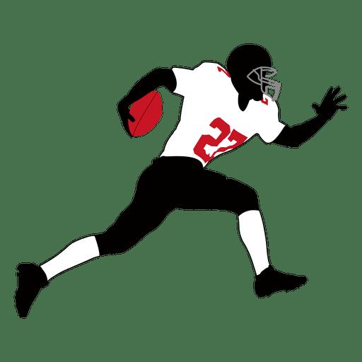 Jogador de rúgbi correndo 4 Transparent PNG