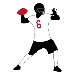 Rugby player throwing
