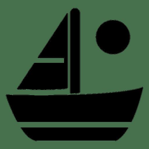 Icono plano velero