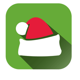 Santa cap square icon